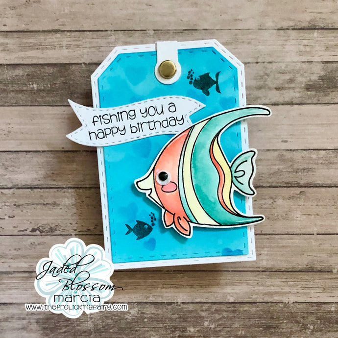 Birthday Fishes Luggage Tag
