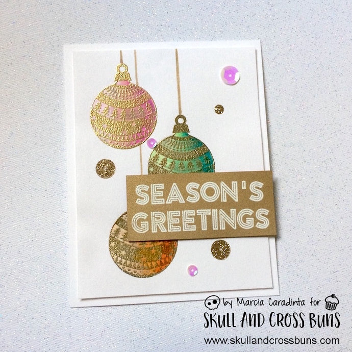 Season's Greetings with Skull and Cross Buns