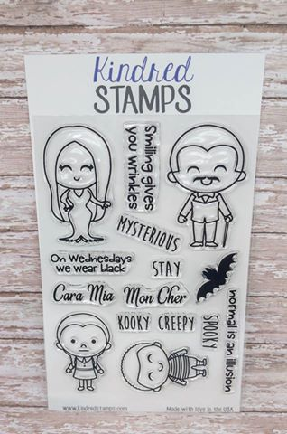 #thefrolickingfairy #kindredstamps #spookyfamily #addamsfamily #spooky #wednesdayaddams