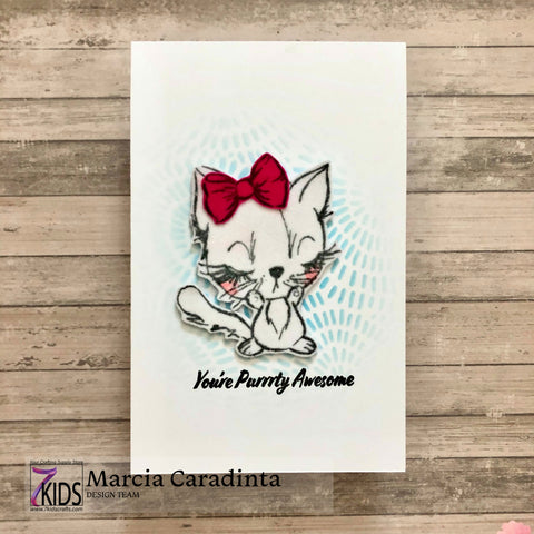 #thefrolickingfairy #7kidscraftingsupplystore #kittengems #kitty #kitten #purrty #purrtyawesome #cas #cleanandsimple #decofoil #flock #flocktransfersheets #studiolight #inkblending #distressink #facebooklive #cardmaking #cardmaker #papercraft