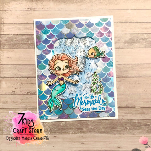 #thefrolickingfairy #7kidscraftstore #mmedel_illustrations #mavewaves #mermaid #littlemermaid #gelshaker #gelcard #liquidshaker #shakercard #interactive #interactivecard #inkblending #sunrise #beach #risewiththetide #gowiththeflow #karinamarkers #watercolor #seastheday #bytheshore #beachgirl #beachhair #mermaidhair #cardmaking #cardmaker