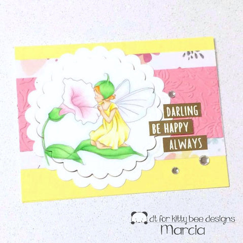 #thefrolickingfairy #kittybeedesigns #alohafridaychallenge #adayfordaisies #blessingaflower #fairy #nymph #inthegarden #flowers #flowerfairy #morningglory #behappy #copiccoloring #spring #springissprung #cardchallenge #papercraft #digitalstamp #digi #handmade