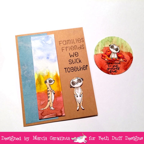 #thefrolickingfairy #bethduffdesigns #standtalltogether #meerkats #watercolor #altenew #africansavanna #fallrelease #Bloghop #sticktogether #atc #atccoin #atcswap #copiccoloring #handmade #handmadecards
