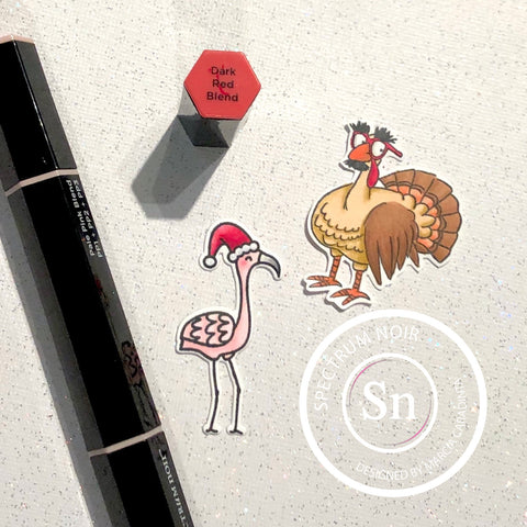 #thefrolickingfairy #spectrumnoir #spectrumnoirmarkers #tutorial #cas #cleanandsimple #holiday #averyelle #artimpressions #turkey #flamingo #triblends #alcoholmarkers #stencil #holidaywishes #thanksgiving #handmade #handmadeholidays #papercraft #cardmaking #cardmaker