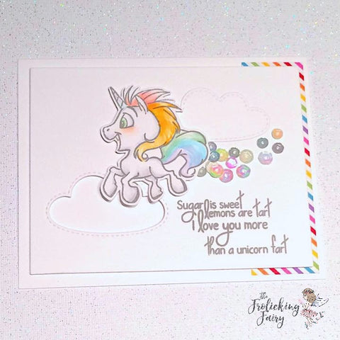 #thefrolickingfairy #ccdesigns #unicorns #fart #unicornfart #fartcloud #cloudy #copiccoloring #casology #casologychallenge #cas #cleanandsimple #papercraft #handmade #love #valentine #valentinesday