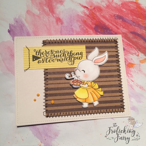 #thefrolickingfairy #craftindesertdivas #sweetaspie #thanksgiving #eatpie #stitching #stitches #stitchedcard #handmadecard