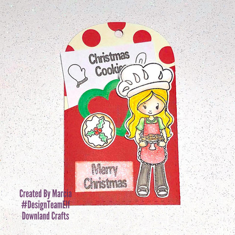 #thefrolickingfairy #downlandcrafts #designteamelf #christmascookies #cookies #christmas #baking #holidaybaking #recipe #treattag #pockettag #jadedblossom #watercolor #spectrumnoir #aquablend #coloredpencils #handmade #handmadeholidays #papercraft