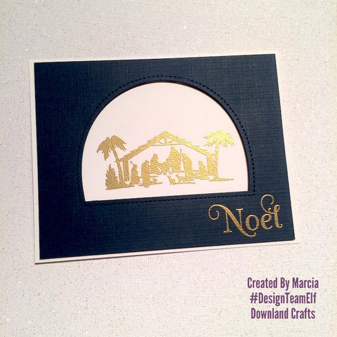 #thefrolickingfairy #downlandcrafts #nativitysilhouettes #nativity #christmas #strawberryjudestamps #noel #cas #cleanandsimple #simplystated #jesusisthereason #navyandgold #handmade #handmadechristmas