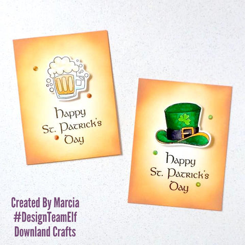 #thefrolickingfairy #designteamelf #downlandcrafts #stpatricksballoons #stpatricksday #stpattysday #weargreen #pintofbeer #lucky #feelinlucky #watercolor #distressink #arteza #realbrushpens #luckoftheirish #papercraft #handmade