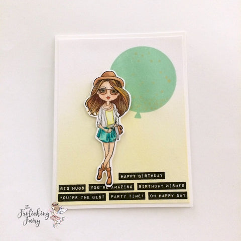 #thefrolickingfairy #deepredstamps #citygirls #streetchic #mamaelephant #toocool #cleanandsimple #birthdaycard #copiccoloring #handmadecards