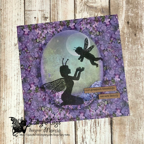 #thefrolickingfairy #tokara #flamo #fairy #fairies #faery #faerymom #faerychild #motherandchild #embossing #fairyscapes #patternedpaper #cas #cleanandsimple #cardmaking #magical #mystical #fairyfolk #cardmaker #cardmakersofinstagram