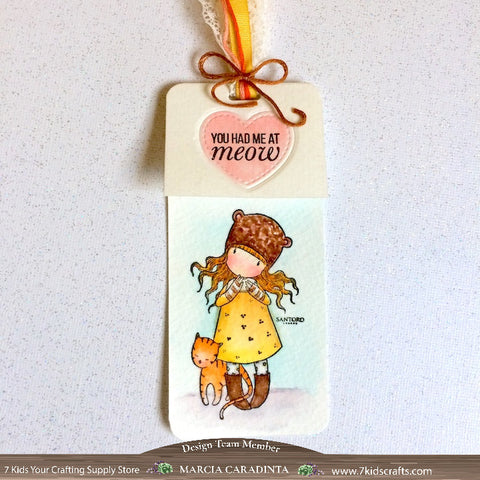 #thefrolickingfairy #lawnfawn #gorjuss #purrbabies #santoro #purrfectlove #youhadmeatmeow #inkroadstamps #inkroadie #purrbaby #bookmark #watercolor #arteza #realbrushpens #7kidscraftingsupplystore #7kidscustomerscreate #cleanandsimple #handmade #papercraft