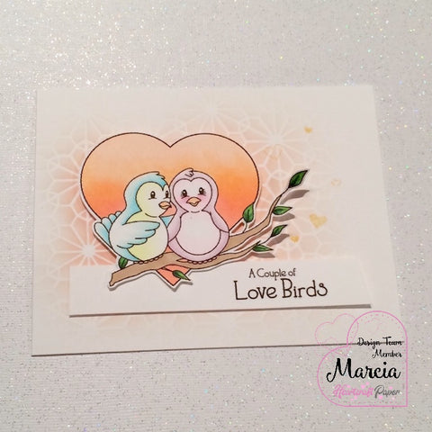 #thefrolickingfairy #heartcraftpaper #lovebirds #digitalstamp #newrelease #bloghop #copiccoloring #stencil #distressoxide #cas #cleanandsimple #inlove #handmade #handmadecards #papercraft
