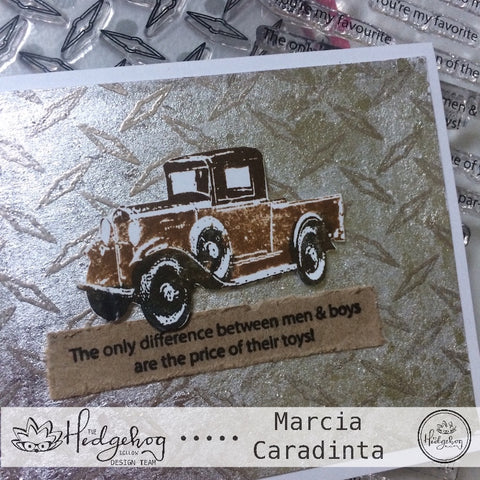 #thefrolickingfairy #thehedgehoghollow #junekit #cardkit #subscriptionbox #designteam #tutorial #diamondplate #vintage #grunge #dad #masculine #timholtz #truck #nuvo #tonicstudiosusa #gilding #embossing