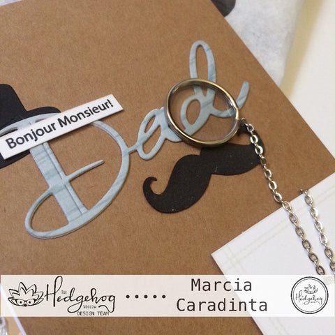 #thefrolickingfairy #thehedgehoghollow #broughttolifebyyou #junekit #subscriptionbox #dad #fathersday #monocle #bonjourmonsieur #mustache #dapper #handmade #handmadecards