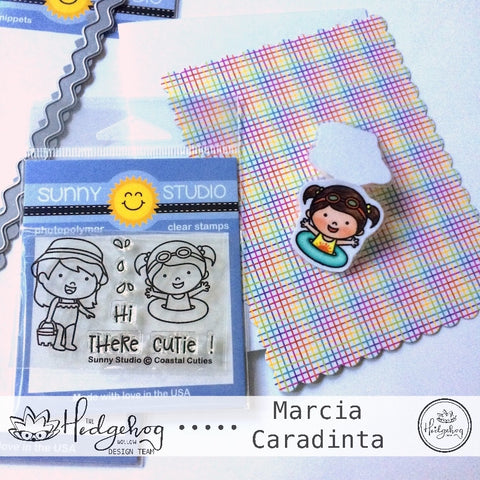 #thefrolickingfairy #thehedgehoghollow #broughttolifebyyou #julykit #subscriptionbox #sunnystudio #coastalcuties #ocean #waves #paperpiecing #bookmark #xyron #diy #tutorial #copiccoloring #catherinepooler #lawnfawn