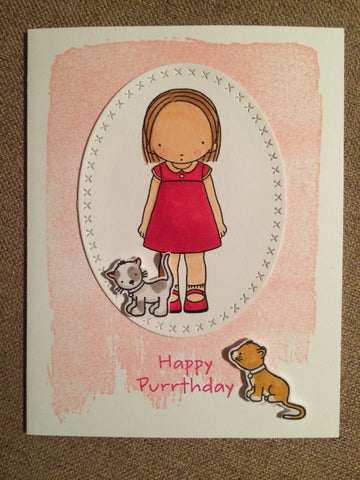 #myfavoritethings #mftstamps #pureinnocence #purrthday #cats #girl #pink #red #kitty #birthday #handmade #handmadecards