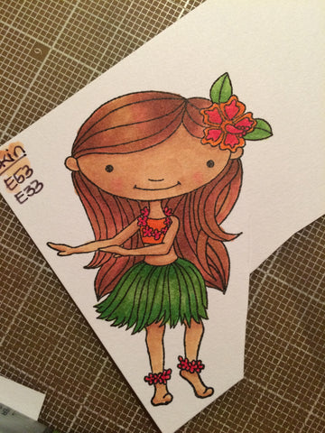 #thefrolickingfairy #mftstamps #hula #hawaii #hulagirl #copiccoloring #behindthescenes #handmadecards
