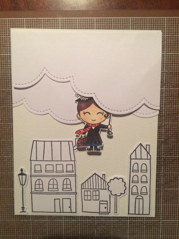 #thefrolickingfairy #kindredstamps #practicallyperfect #marypoppins #settingthescene #handmadecards #copiccoloring