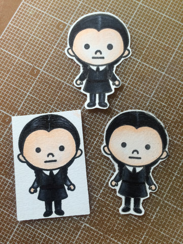 #thefrolickingfairy #kindredstamps #spookyfamily #addamsfamily #spooky #wednesdayaddams  #copiccoloring #practicemakesperfect
