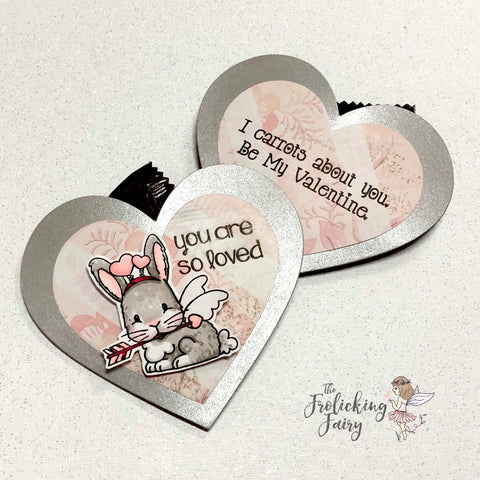 #thefrolickingfairy #jadedblossom #cupidintraining #cupid #bunny #bunnylove #youareloved #valentine #valentinesday #valentinetreat #bemine #craftymom #cardmaker #cardmaking #treatpouch #alcoholmarkers #spectrumnoir #bloghop #handmade