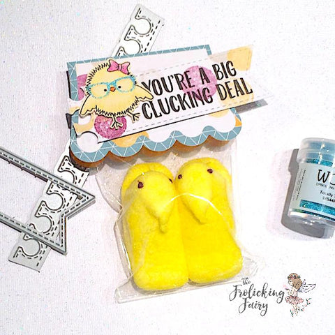 #thefrolickingfairy #jadedblossom #heychickie #chick #smartypants #bigdeal #bigcluckingdeal #wowembossing #totallyteal #peeps #treattag #cardchallenge #papercraft #handmade #easter