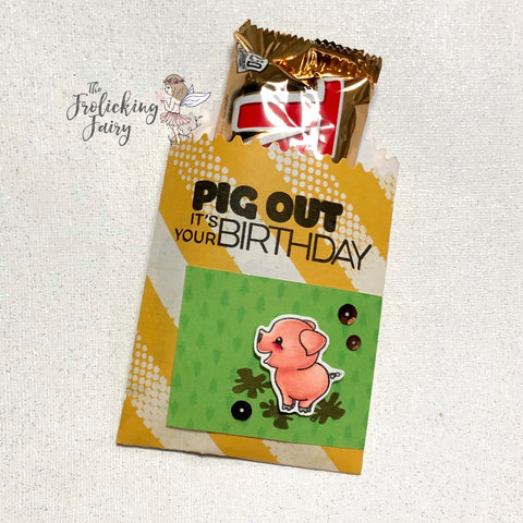 #thefrolickingfairy #jadedblossom #octoberchallenge #makeatreat #pigout #pig #piggy #thislittlepiggy #treatbag @spectrumnoir #triblends #alcoholmarkers #papercraft #handmade #birthday #birthdaytreat
