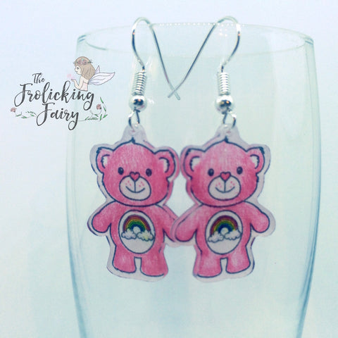 #thefrolickingfairy #kindredstamps #bearswithfeelings #limited #preorder #lovebear #loveninja #ninja #bear #teddybear #heart #rainbow #earrings #diy #shrinkydinks #xyron #magnet #fairytalemail #papercraft #handmade