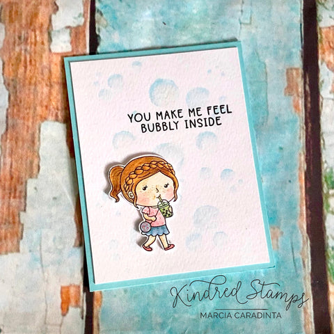 #thefrolickingfairy #kindredstamps #bobatea #boba #bobalicious #plannerannie #plannergirl #kindredplans #monthlysubscription #bubbly #youmakemefeelbubbly #stencil #bubblestencil #cas #cleanandsimple #casology #casologychallenge #tea #spillthetea #timholtz #distressmarkers #watercolor #cardmaking #cardmaker