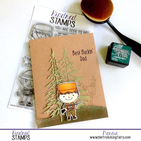 #thefrolickingfairy #kindredstamps #octoberrelease #thegreatoutdoors #hunter #fisherman #getoutdoors #bethehunter #masterbaiter #outdoorsman #camo #dad #hunting #fishing #cas #copiccoloring #handmade #handmadecards