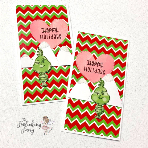 #thefrolickingfairy #festivalofchristmas #massproduction #massproduced #cardmaking #kindredstamps #merrywhatever #holidays #nothappyholidays #grump #cas #cleanandsimple #nocoloring #papercraft #bloghop #cardmaker #handmadeholidays