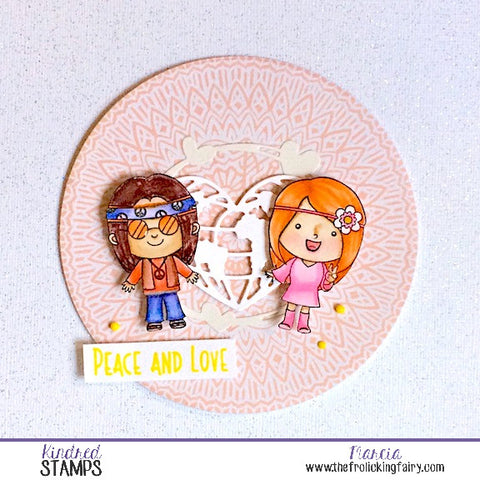 #thefrolickingfairy #kindredstamps #peaceandlove #hippie #hippies #farout #sharethelove #peace #peaceout #watercolor #arteza #realbrushpens #circlecard #lalalandcrafts #loveeveryone #loveisblind #newrelease #papercraft #cardmaker #handmade