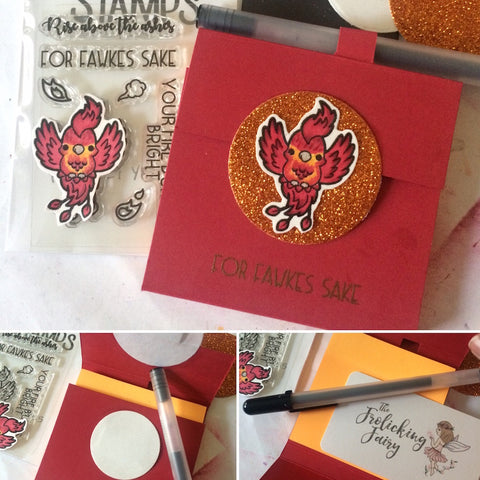 #thefrolickingfairy #kindredstamps #tutorial #yoda #tinkerbell #ewok #galacticadventures #nevergrowup #postit #postitnote #noteholders #minipens #justanote #copiccoloring #handmadegifts #risefromtheashes #fawkes #phoenix
