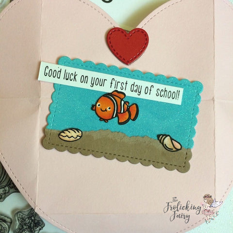 #thefrolickingfairy #kindredstamps #seafriends #augustrelease #bloghop #underthesea #clownfish #bluetang #ispeakwhale #firstdayofschool #lunchboxnotes #lawnfawn #handmade #handmadecards #irememberedsomething