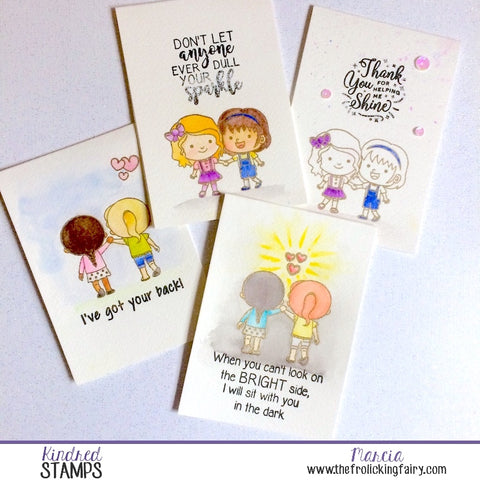 #thefrolickingfairy #kindredstamps #unitedwestand #charity #antibullying #craftyfriends #friendship #gotyourback #watercolor #spotcoloring #uplifting #handmade #handmadecards