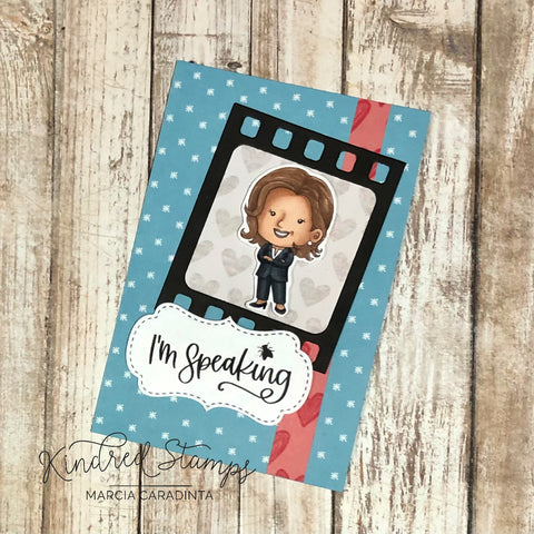 #thefrolickingfairy #kindredstamps #wedidit #inauguration #president #vicepresident #imspeaking #glassceilings #strongwomen #election2020 #paperpiecing #americanflag #proudamerican #democracy #vote #filmstrip #filmstripdie #cardmaking #cardmaker #cardmakersofinstagram