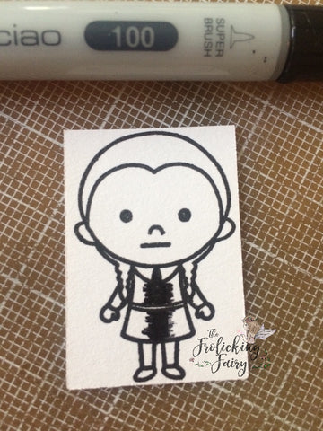 #thefrolickingfairy #kindredstamps #spookyfamily #addamsfamily #wednesdayaddams #copiccoloring #shading #technique