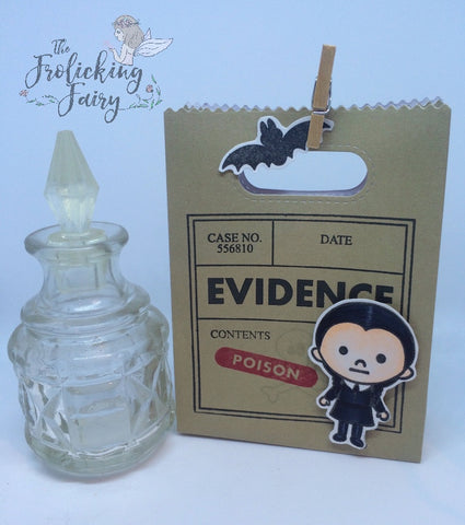 #thefrolickingfairy #kindredstamps #spookyfamily #addamsfamily #spooky #wednesdayaddams  #treatbag #halloween #givemecandy #poison