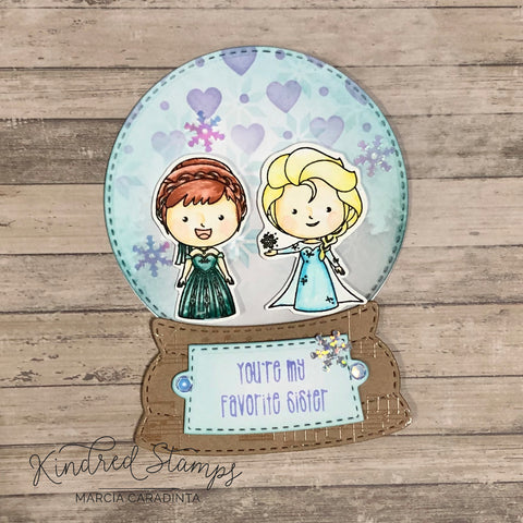 #thefrolickingfairy #kindredstamps #winterfriends #preorder #limitededition #snowglobe #jadedblossom #favoritesister #magic #snowflurries #inkblending #stencil #freebie #free #healthcareworker #covid #pandemic #thankyou #cardmaker #cardmaking #cardmakersofinstagram