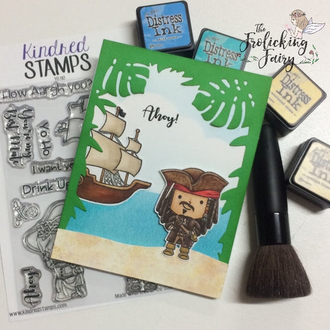 #thefrolickingfairy #kindredstamps #yoho #arr #iwantyerbooty #pirate #pirateship #pirateslife #copiccoloring #bestmate #ahoy