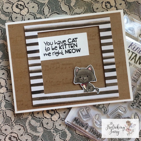 #thefrolickingfairy #kindredstamps #yourepurrfect #musicalcats #youvegottobekittenme #kittens #oolala #french #france #paris #copiccoloring