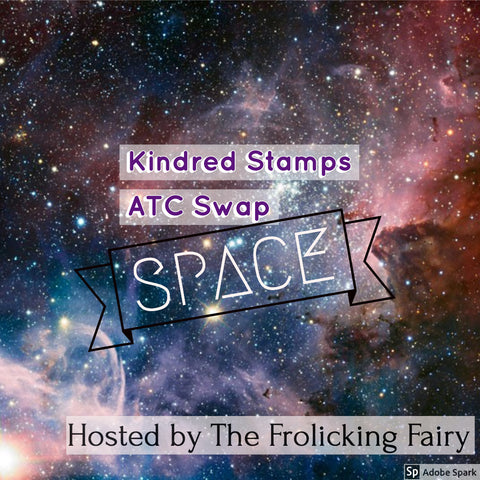 #thefrolickingfairy #kindredstamps #atc #artisttradingcard #atcswap #space #outerspace #galaxy #openspace #timeandspace #thegreatunknown #getoutside #getcrafty #getcreative #handmade #papercraft