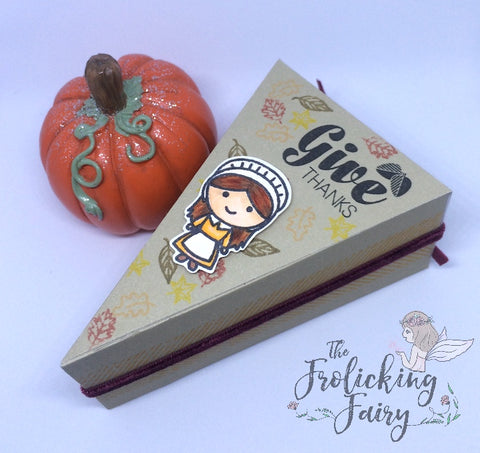 #thefrolickingfairy #kindredstamps #happytrails #stampinup #pie #treatbox #gettingcrafty