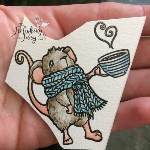 #thefrolickingfairy #littleacrescreations #coffeehousemouse #watercolor #coffeehouse #mouse #scarf #cupofjoe #distressmarkers #lac #cafedreamers #challenge #coffeelovers #cafe #coffee
