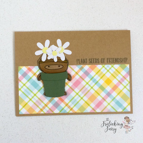 #thefrolickingfairy #scrapbookpal #lawnfawn #littleflowers #lawncuts #springfling #growing #pulltab #seedsoffriendship #plaidpaper #petitepaperpad #mftstamps #ninjamazing #kindredstamps #bloom #fairytalemail #interactivecard #papercraft #cardmaker #handmade