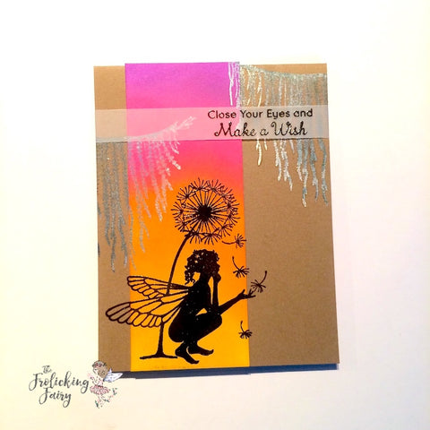 #thefrolickingfairy #laviniastamps #fairytale #forestspruce #silhouette #fairy #forestfairy #distressoxides #tags #bookmark #handmadecards #papercraft #cleanandsimple #summerglow