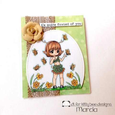 #thefrolickingfairy #kittybeedesigns #leannsworld101 #alohafridaychallenge #alohafriday #cardchallenge #anythinggoes #fawn #fawnedofyou #nature #naturegirl #handmadecards #copiccoloring