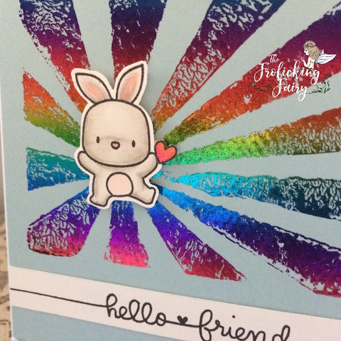 #thefrolickingfairy #ricre8s #mamaelephant #lunaranimals #stampoff #battleofthestampers #monthlychallenge #copiccoloring #decofoil #decogel #mysunshine #hellofriend #bunny
