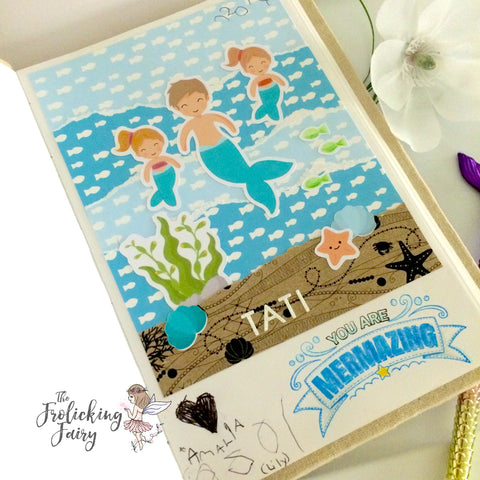#thefrolickingfairy #stickerkitten #mermaidtreasures #mermaid #merman #mermazing #fathersday #dad #tati #youaremermazing #diecut #ephemera #journal #junkjournal #handbound #merfamily #papercraft #handmade