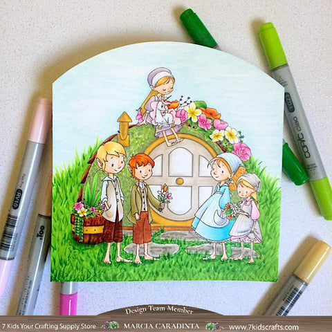 #thefrolickingfairy #7kidscraftingsupplystore #sweetnovember #brownies #magical #elves #magical #itsamagicallife #grasshome #friendship #copiccoloring #digitalstamp #digitalart #papercraft #handmade #hobbithole